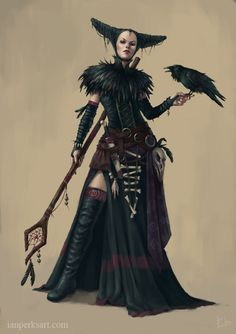Crow Witch by IanPerks.deviantart.com on @DeviantArt