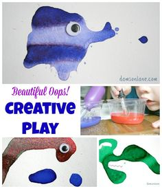Preschool Creative Play with Paint | damsonlane.com
