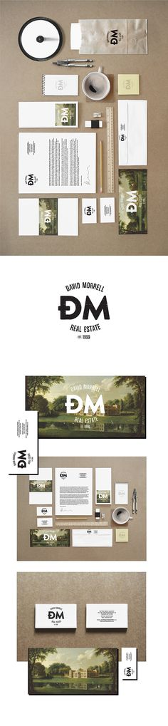 Cool Retro real estate brand | David Morell - Real Estate Agent by Zdunkiewicz , via Behance