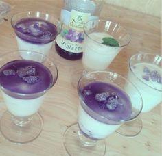 Violets:  Verrine de mousse au fromage blanc #violette.