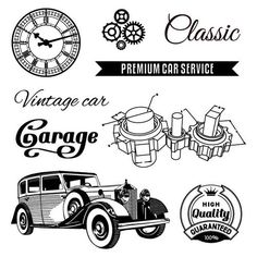 """ScrapBerry's Clear Stamps Auto Vintage Garage Embellish your scrapbooking pages or paper projects with elegant """"Auto Vintage Garage"""" themed clear stamps. Ideal for that vintage look. Vintage Images, Vintage Cars, Premium Cars, Tampons, Car Garage, Clear Stamps, Scrapbook, Transport, Steampunk"""