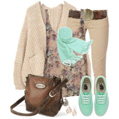 """""""Mint and Nude Set"""" by daiscat on Polyvore"""