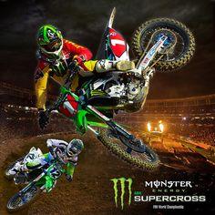 Monster Energy Supercross Team Green - The Champ is back!