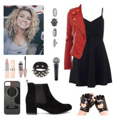 """""""Day 7 - if I was a lead singer"""" by isabel-harsh ❤ liked on Polyvore featuring Maybelline, Miss Selfridge, New Look and ifiwaschallange"""