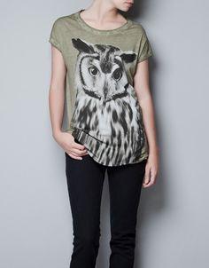OWL T-SHIRT - T-shirts - TRF - ZARA Hungary