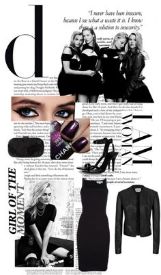 """""""Black time"""" by simado ❤ liked on Polyvore"""