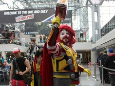 The winner for most creative Friday cosplay goes to McThor who threw down his nugget hammer of justice at the Con.