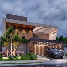 Modern Exterior House Designs, Best Modern House Design, Modern Villa Design, Minimalist House Design, Dream House Exterior, Modern Architecture House, Exterior Design, House Outside Design, House Front Design