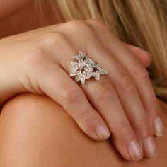 Amazon.com: Wonder Woman Cubic Zirconia Star Ring Sterling Silver: SusanB.: Jewelry