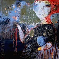 "Saatchi Art Artist Rusudan Khizanishvili; Painting, ""Morning Flower"" #art"