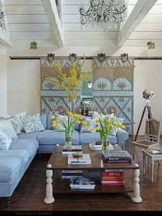 Doors - trim, trellis, simple wood shapes over existing doors Like the layout.