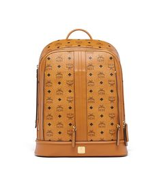 Crafted from Visetos printed cognac coated canvas, this backpack is utilitarian style at its best. It has dual zippered compartments for essential storage and can accommodate up to two jet packs — creating a modular bag system, perfect for tactical travelers and city dwellers alike.