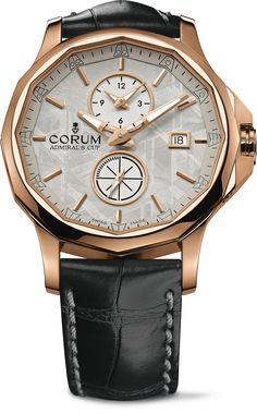 Corum Admiral's Cup Legend 42 Meteorite Dual Time Watch #luxurywatch #Corum-swiss Corum Swiss Watchmakers watches #horlogerie @calibrelondon