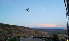 Sunset over town of Urgup, Cappadocia, Turkey