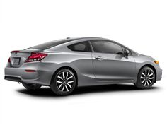 2014 Honda Civic Coupe Silver Rear View - Automotive Pictures & Wallpapers