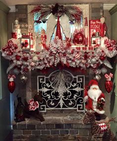 Designed By Vanessa Williams Seen On Grillo Designs Home Decorating Christmas Mantels 2017