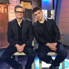 "Colin Firth and Taron Egerton promoting ""Kingsmen; The Secret Service"""