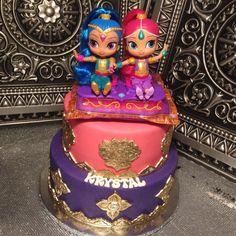 Shimmer and Shine Cake Fun! #showboybakeshop #bakery #lasvegas #vegas #anthem #sevenhills #summerlin ...