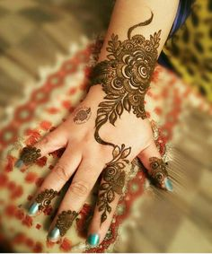 Online shopping for Hennas - Styling from a great selection at Beauty Store. Unique Henna, Unique Mehndi Designs, Beautiful Mehndi Design, Latest Mehndi Designs, Mehndi Designs For Hands, Bridal Mehndi Designs, Henna Designs, Art Designs, Tattoo Designs