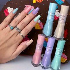 Pink Nail Art, Pastel Nails, Pink Nails, Gel Nails, Nail Polish, Bright Summer Acrylic Nails, Summer Nails, Fancy Makeup, Glamour Nails