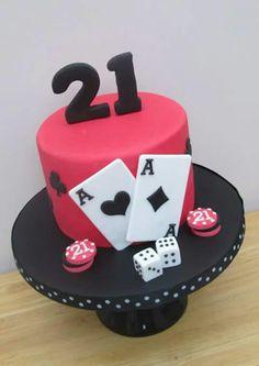 Cards/ poker cake