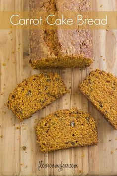 This Carrot Cake Bread Recipe is perfect for Spring and Easter. It has all the flavor of a carrot cake but with the dense texture of a sweetbread.