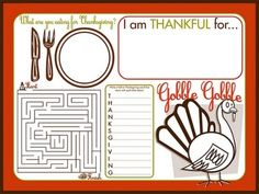 Thanksgiving Activity Booklet for Kids