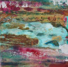 "Mixed Media on Canvas 20"" x 20"" Biddy Hodgkinson"