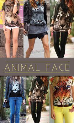 Tendência: Animal Face