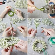 The 10 best DIY you can do for your wedding - All For Bridal Hair Diy Flower Crown, Flower Crown Wedding, Floral Crown, Diy Wedding Flowers, Diy Flowers, Paper Flowers, Wedding Hall Decorations, Wedding Centerpieces, Flower Head Wreaths