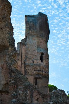 The Baths of Caracalla, Rome. It is said that the complex had the capacity to gather up to 8,000 bathers per day.