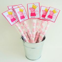x10/x15 Peppa Pig Sweetie tubes/party bags/party bag fillers/sweets/sweet cones