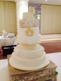 Belle's Patisserie's vintage 7 tiered wedding cake. Spectacular!