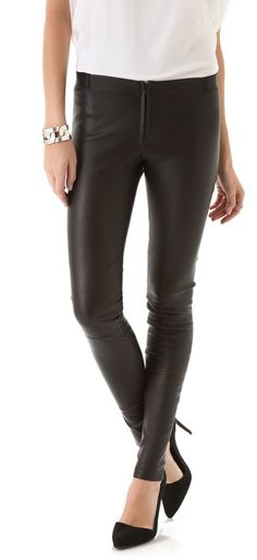 Alice   Olivia Zip Front Leather Legging -