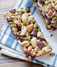 10 Healthy After-School Snacks - Homemade Berry Nut Bars