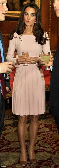 The Duchess of Cambridge in Emilia Wickstead at the Queen's Jubilee lunch at Windsor Castle
