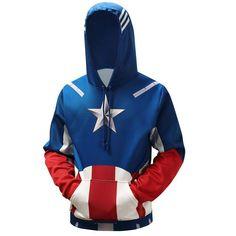 3D Captain America Hoodies – cinemageeks