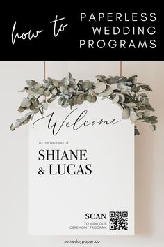 How to use a QR code for digital wedding programs