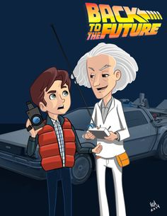 Back to the future fan art by Héctor Manuel Guerrero Herrera, via Behance