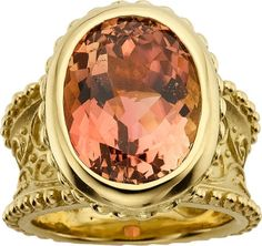 The Duchess Collection,Tourmaline and Gold Ring, by Cynthia Bach