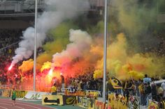 AEK Athens Ultras Football, Football Stadiums, European Football, Athens Greece, Olympics, Fans, Spirit, The Originals, Places