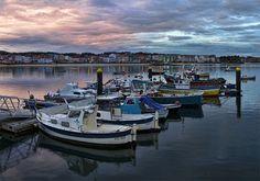 Puerto deportivo de Ares. La Coruña, España