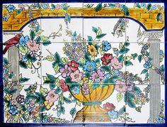 DECORATIVE ITALIAN TILES Italian design mosaic by tunisiandecor, $132.00
