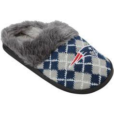Women's New England Patriots Argyle Fur Slide