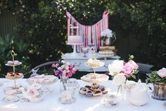 English Garden Tea Party Ideas | Little Big Company | The Blog: A Garden High Tea Party for a Baby ...