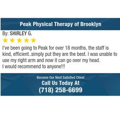 I've been going to Peak for over 18 months, the staff is kind, efficient..simply put they...