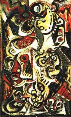 Jackson Pollock, Masked Image.  Art Experience NYC  www.artexperiencenyc.com/social_login/?utm_source=pinterest_medium=pins_content=pinterest_pins_campaign=pinterest_initial