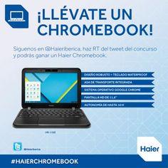 Participa y gana un Haier Chromebook desde Twitter