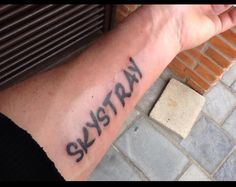 Sky Stray Tattoo write