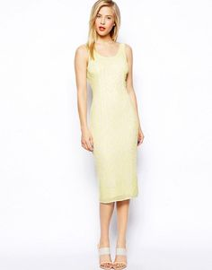 ASOS+SALON+Beautiful+Embellished+Bodycon+Midi+Dress